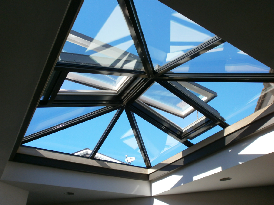 Structural skylights roof tube shade velux for Large skylights